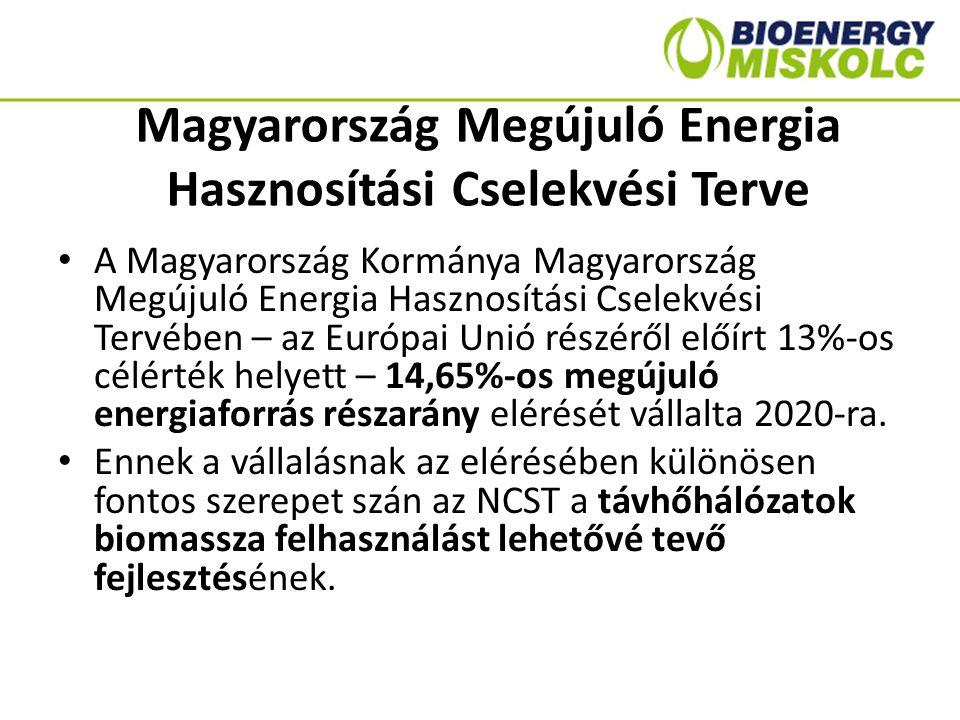 Nemzeti Energiastratégia 2030 Távhőrendszerek esetében elengedhetetlen – a vezetékek és a hőközponti hálózat modernizálása, – a megújuló energiaforrások bevonása, elsősorban a biomassza és a geotermikus energia alkalmazásával, – valamint az anyagukban nem hasznosítható települési hulladékok energetikai hasznosítása.