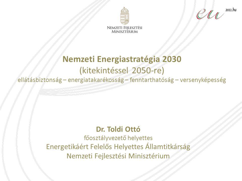 Nemzeti Energiastratégia 2030 (kitekintéssel 2050-re) ellátásbiztonság – energiatakarékosság – fenntarthatóság – versenyképesség Dr.