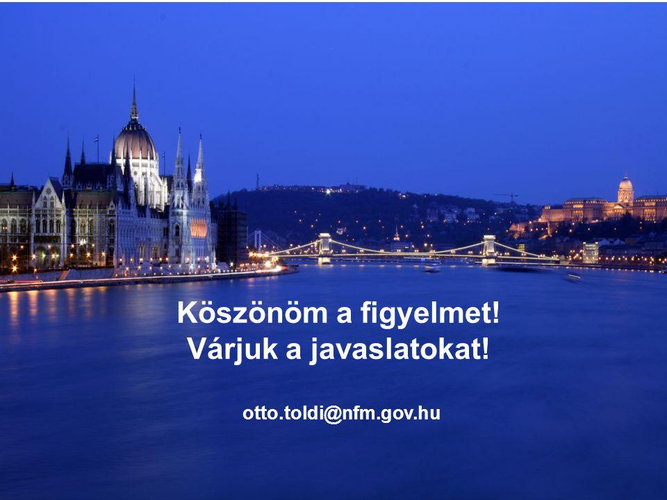 20 Köszönöm a figyelmet! Várjuk a javaslatokat! otto.toldi@nfm.gov.hu