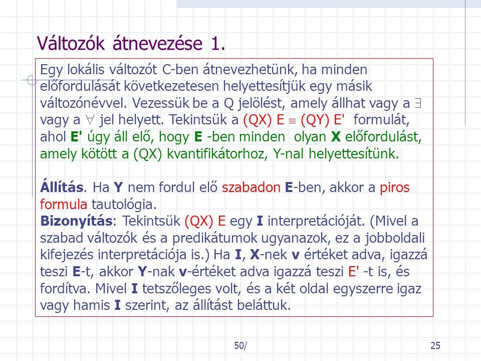 50/25 Változók átnevezése 1.