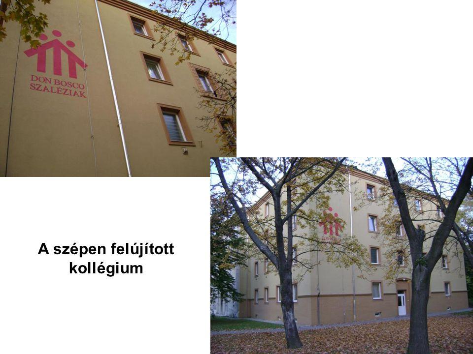 A szépen felújított kollégium