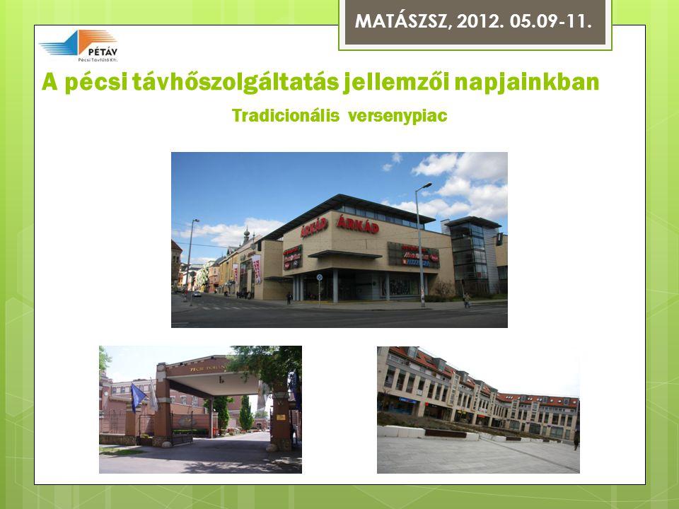 A pécsi távhőszolgáltatás jellemzői napjainkban Tradicionális versenypiac MATÁSZSZ, 2012. 05.09-11.