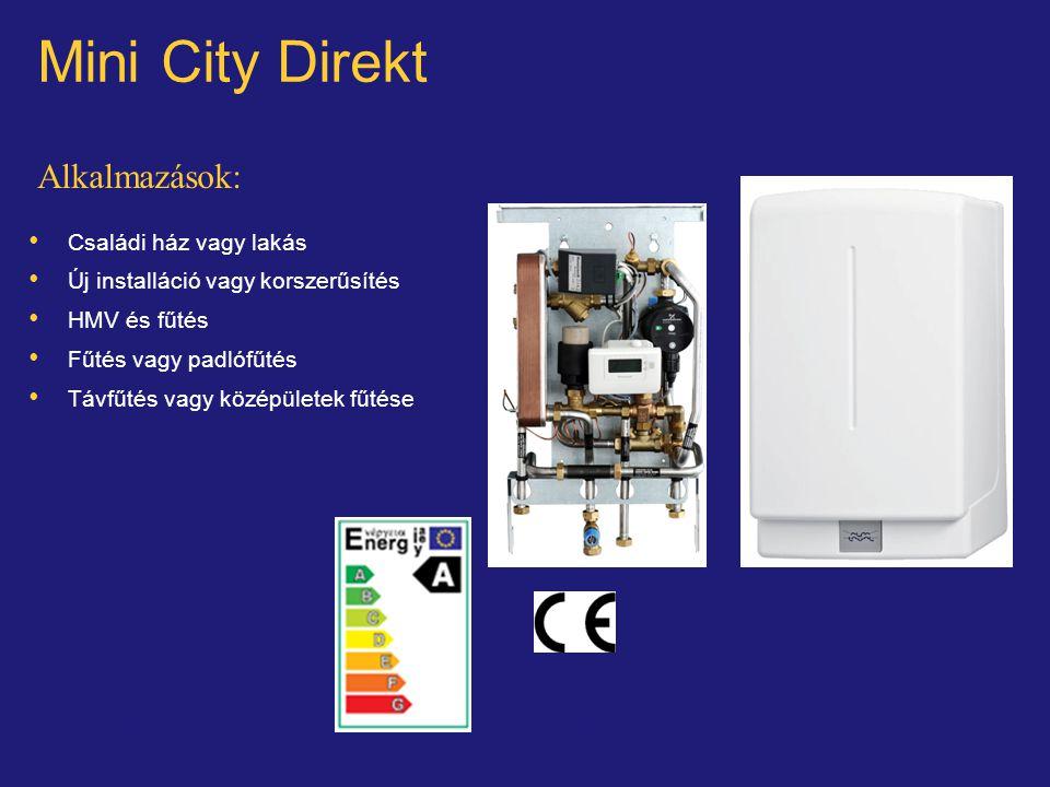 © Alfa LavalSlide 23 Mini City Direkt Alkalmazások: Családi ház vagy lakás Új installáció vagy korszerűsítés HMV és fűtés Fűtés vagy padlófűtés Távfűt
