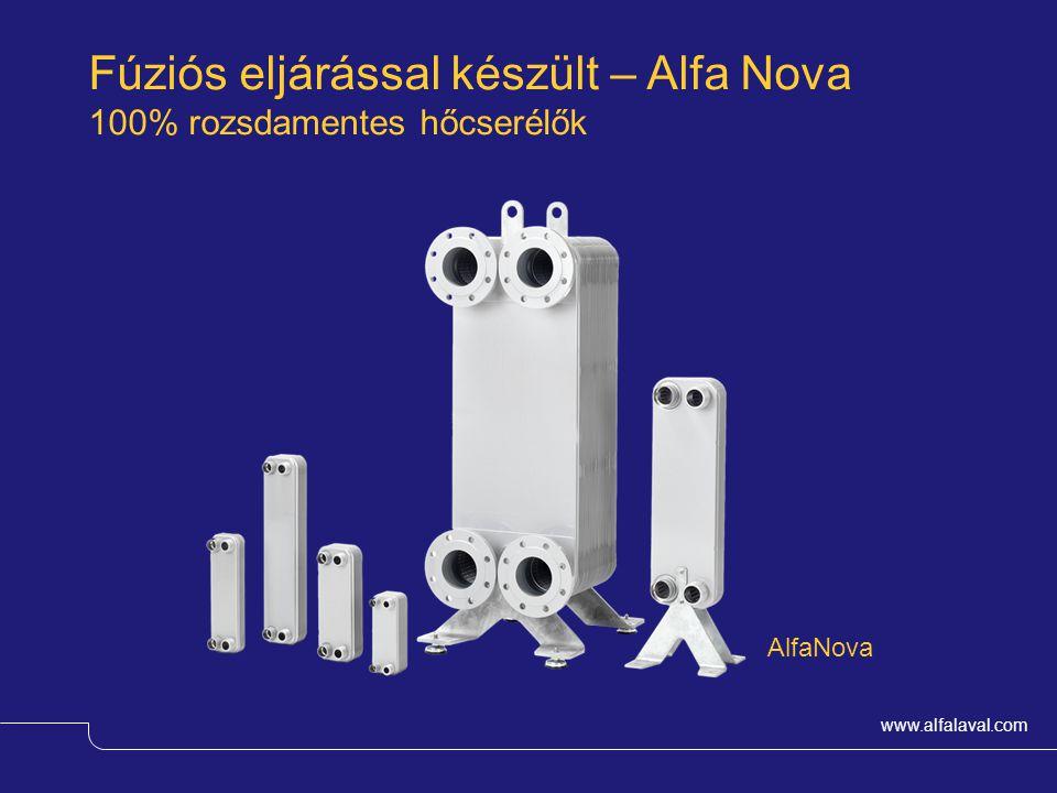 www.alfalaval.com AlfaNova Fúziós eljárással készült – Alfa Nova 100% rozsdamentes hőcserélők