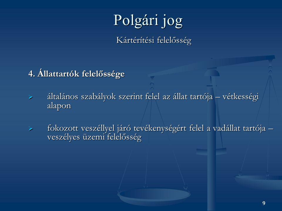 9 Polgári jog Kártérítési felelősség 4.