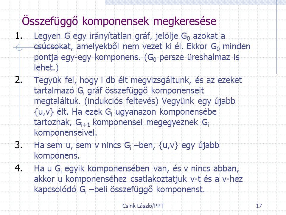 Csink László/PPT17 Összefüggő komponensek megkeresése 1.