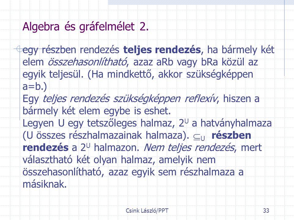 Csink László/PPT33 Algebra és gráfelmélet 2.