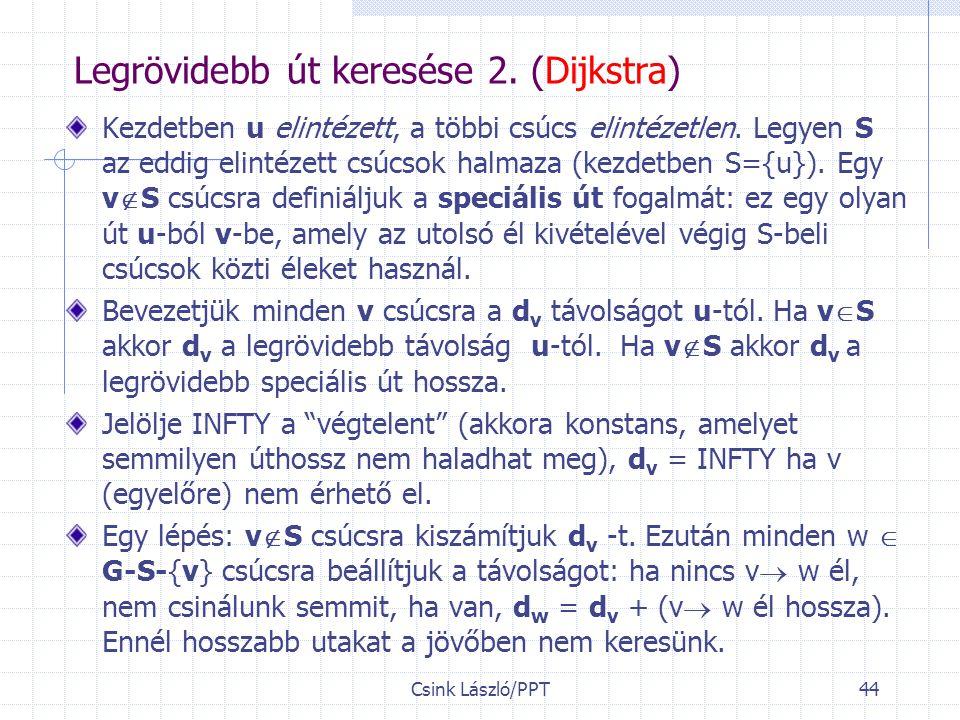 Csink László/PPT44 Legrövidebb út keresése 2.