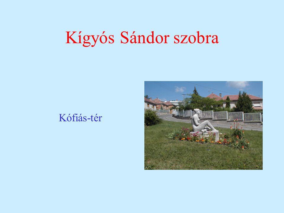 Kígyós Sándor szobra Kófiás-tér
