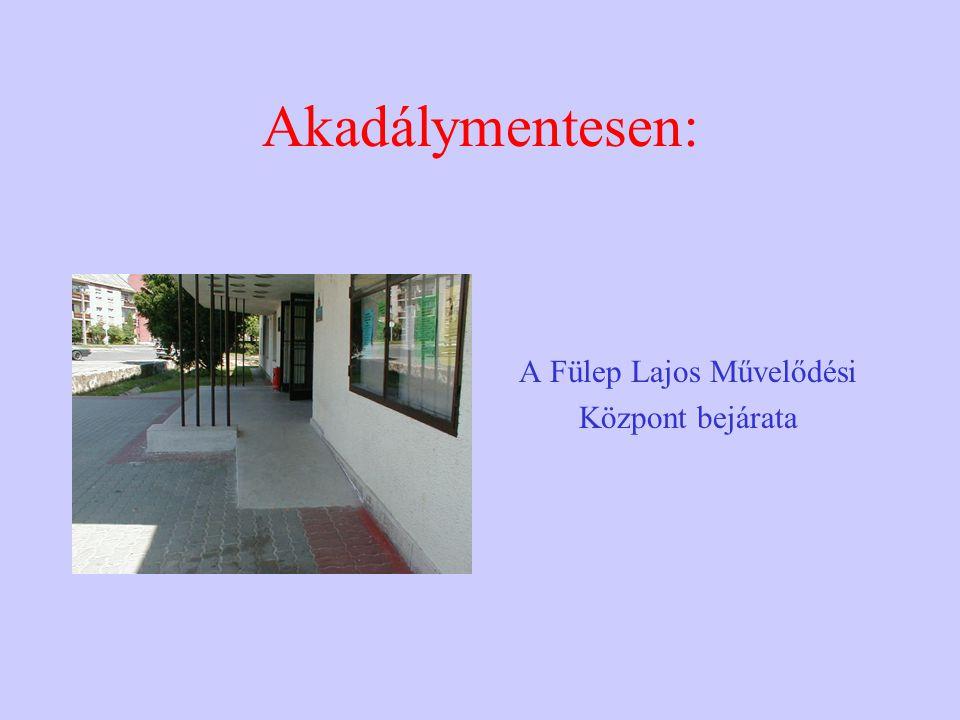 Akadálymentesen: A Fülep Lajos Művelődési Központ bejárata