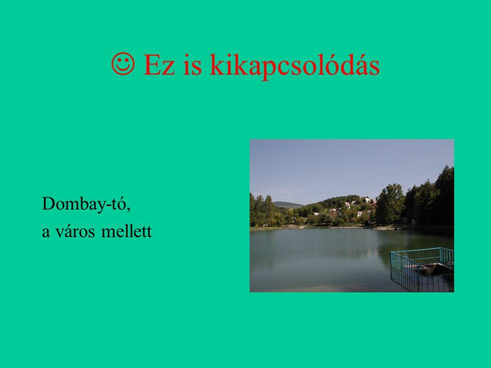 Ez is kikapcsolódás Dombay-tó, a város mellett