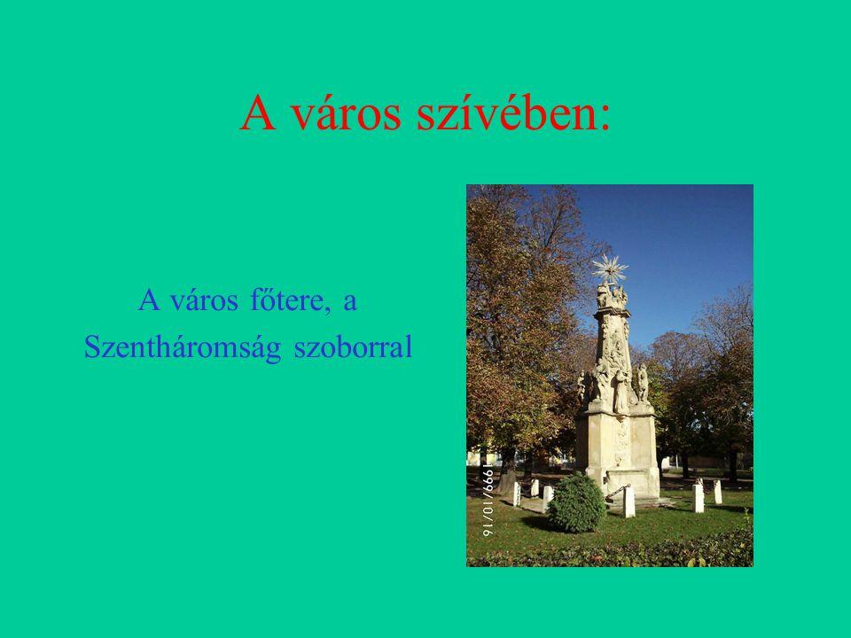 A város szívében: A város főtere, a Szentháromság szoborral