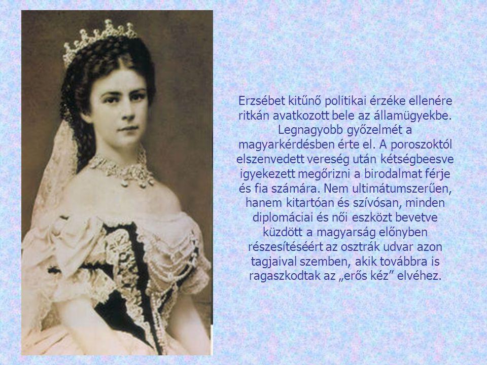 1855.május 5-én szülte meg első gyermekét, Zsófiát, majd 1856.