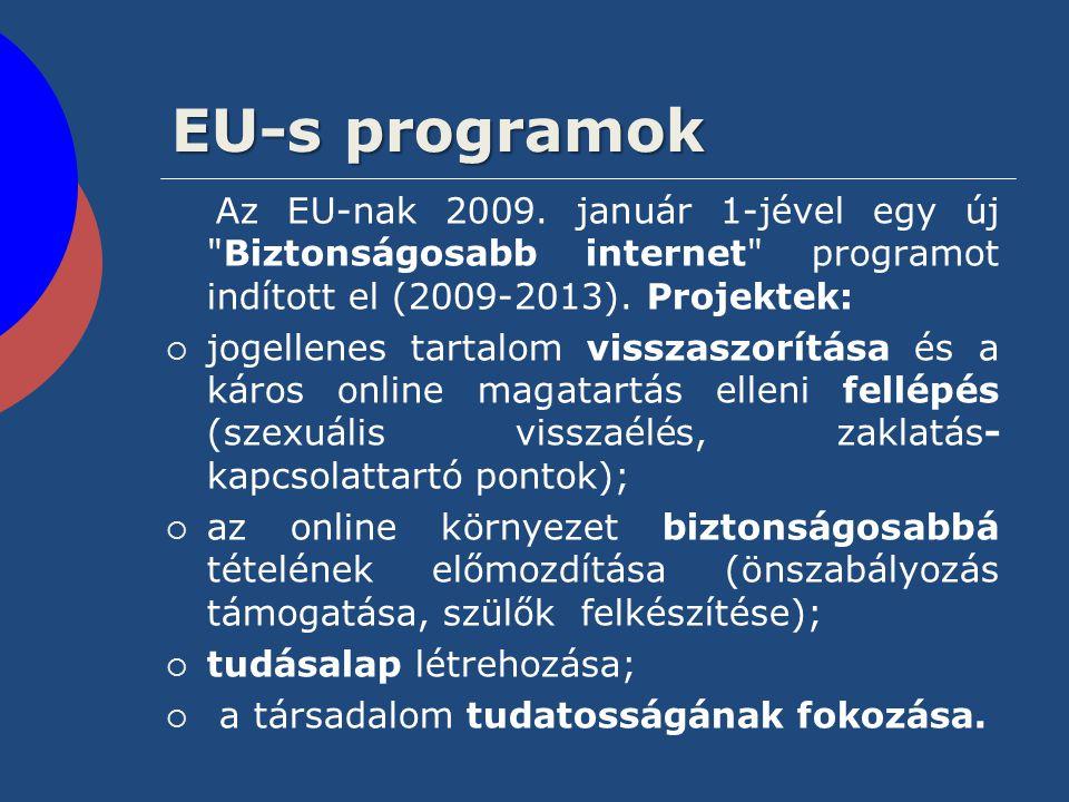 EU-s programok Az EU-nak 2009. január 1-jével egy új