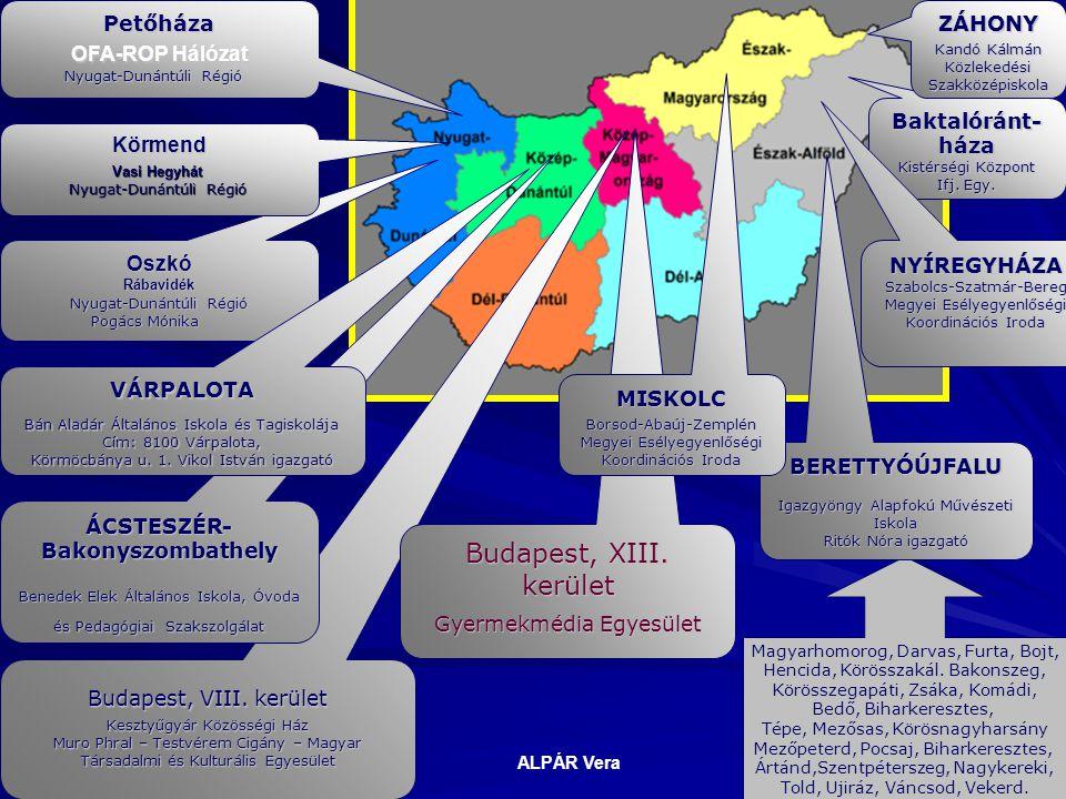 Baktalóránt- háza Kistérségi Központ Ifj. Egy. Petőháza OFA-ROP Hálózat Nyugat-Dunántúli Régió Nyugat-Dunántúli Régió OszkóRábavidék Nyugat-Dunántúli