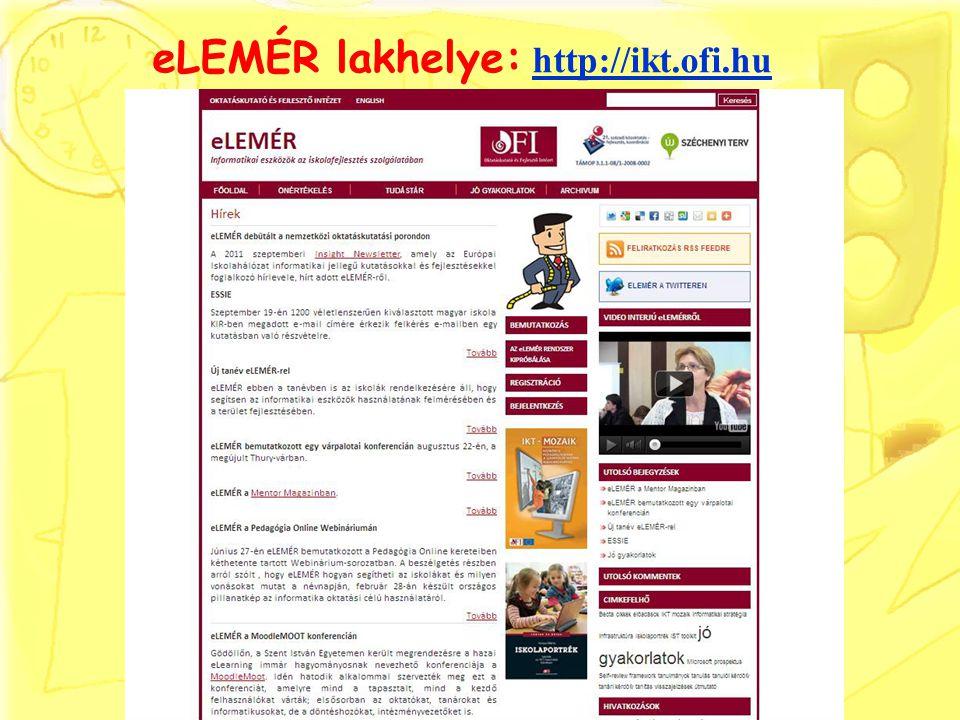 eLEMÉR lakhelye: http://ikt.ofi.hu http://ikt.ofi.hu