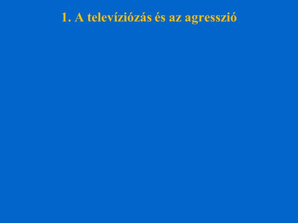 1. A televíziózás és az agresszió