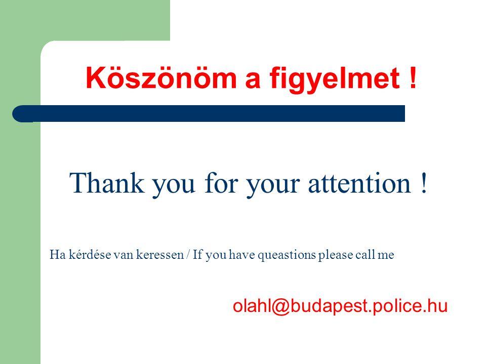 Köszönöm a figyelmet . Thank you for your attention .