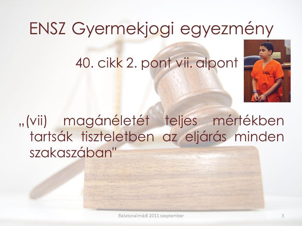 ENSZ Gyermekjogi egyezmény 40. cikk 2. pont vii.