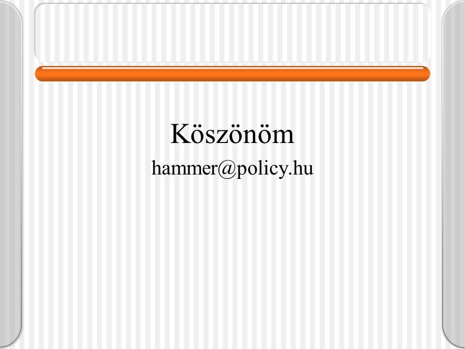 . Köszönöm hammer@policy.hu