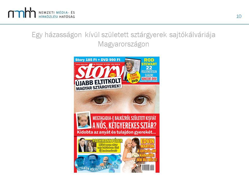 10 Egy házasságon kívül született sztárgyerek sajtókálváriája Magyarországon