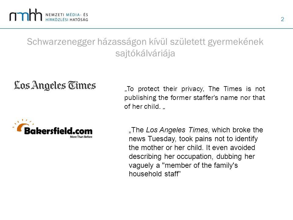 """2 Schwarzenegger házasságon kívül született gyermekének sajtókálváriája """"To protect their privacy, The Times is not publishing the former staffer's na"""