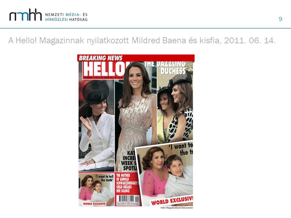 9 A Hello! Magazinnak nyilatkozott Mildred Baena és kisfia, 2011. 06. 14.