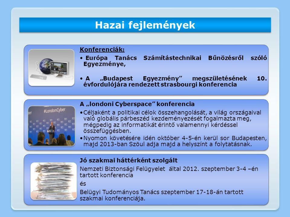 """Hazai fejlemények Konferenciák: Európa Tanács Számítástechnikai Bűnözésről szóló Egyezménye, A """"Budapest Egyezmény"""" megszületésének 10. évfordulójára"""