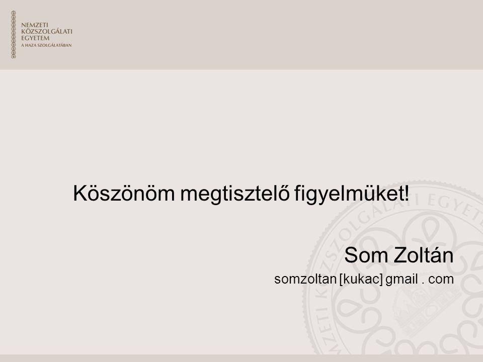 Köszönöm megtisztelő figyelmüket! Som Zoltán somzoltan [kukac] gmail. com