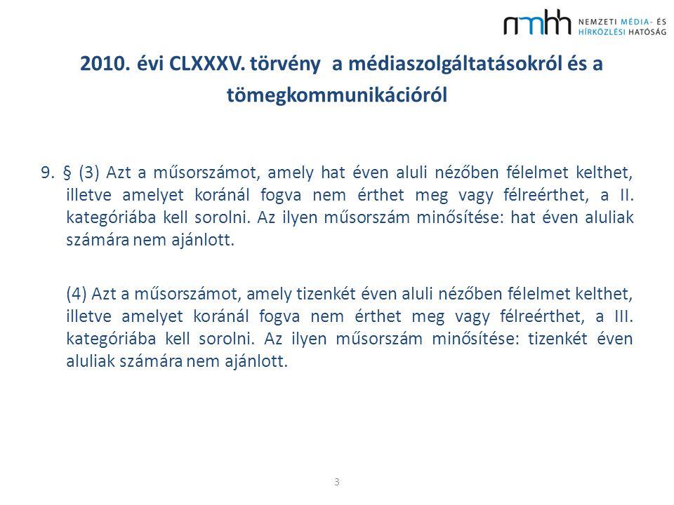 2010. évi CLXXXV. törvény a médiaszolgáltatásokról és a tömegkommunikációról 9.