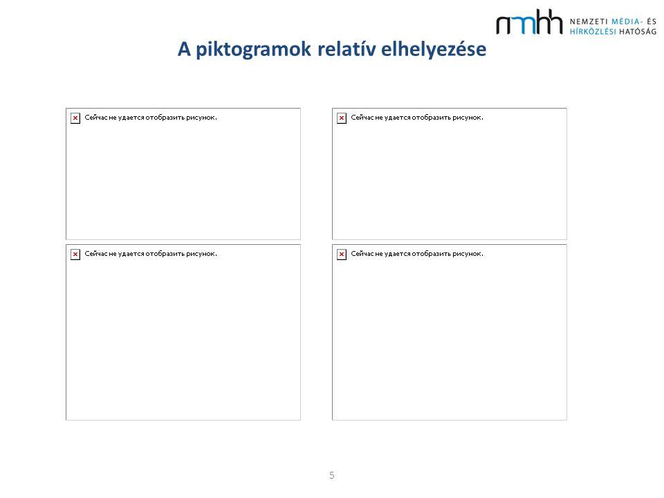 A piktogramok relatív elhelyezése 5