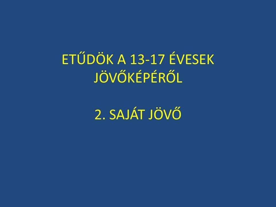 ETŰDÖK A 13-17 ÉVESEK JÖVŐKÉPÉRŐL 2. SAJÁT JÖVŐ