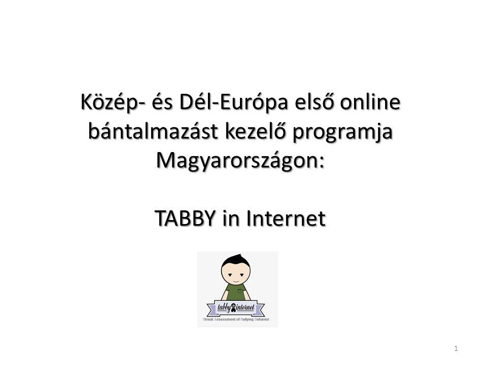 Közép- és Dél-Európa első online bántalmazást kezelő programja Magyarországon: TABBY in Internet 1
