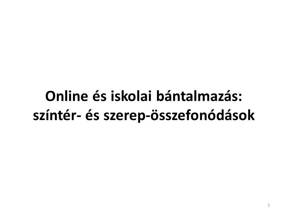 Online és iskolai bántalmazás: színtér- és szerep-összefonódások 5