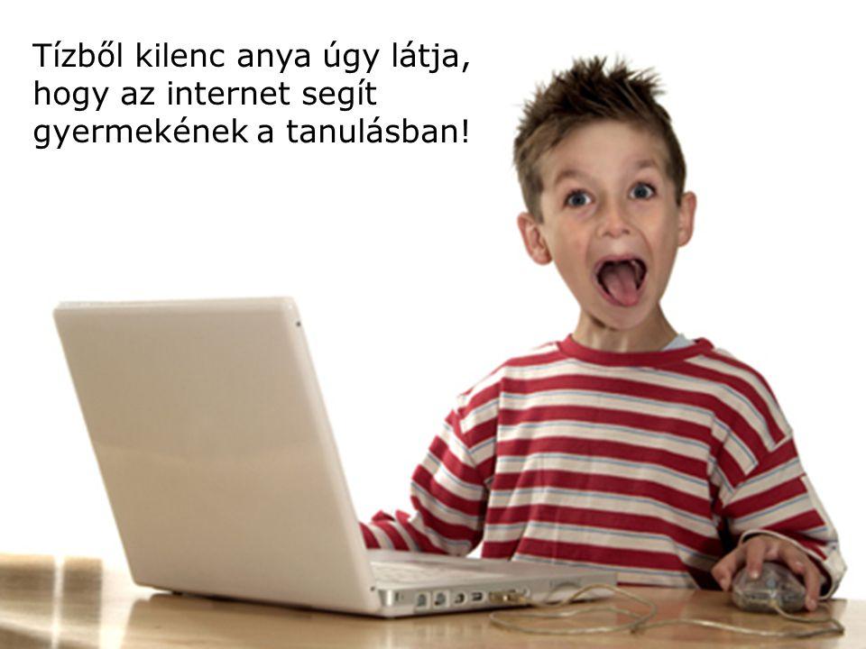 12 Tízből kilenc anya úgy látja, hogy az internet segít gyermekének a tanulásban!