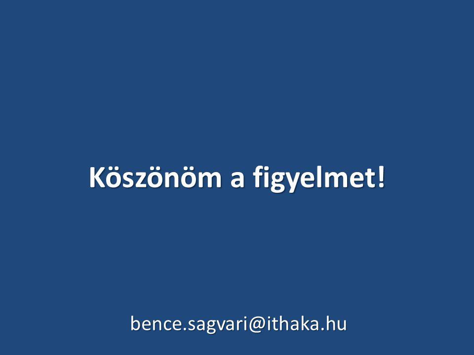 Köszönöm a figyelmet! bence.sagvari@ithaka.hu