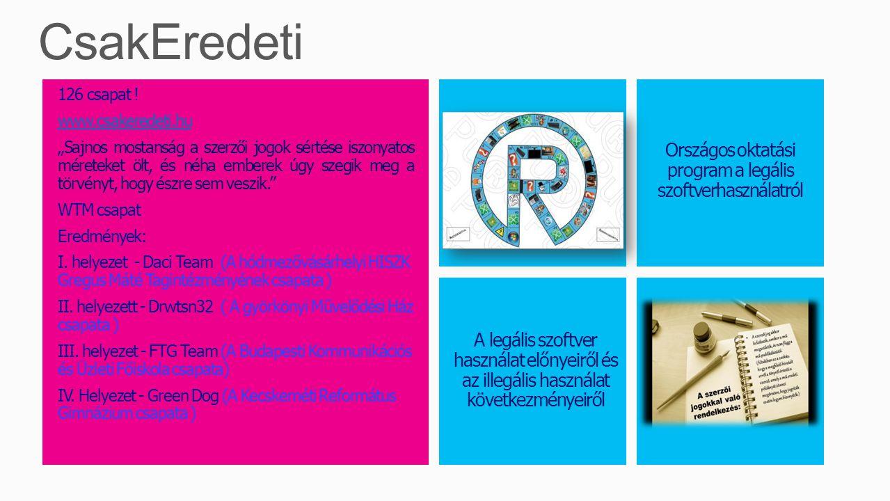 """126 csapat ! www.csakeredeti.hu """"Sajnos mostanság a szerzői jogok sértése iszonyatos méreteket ölt, és néha emberek úgy szegik meg a törvényt, hogy és"""