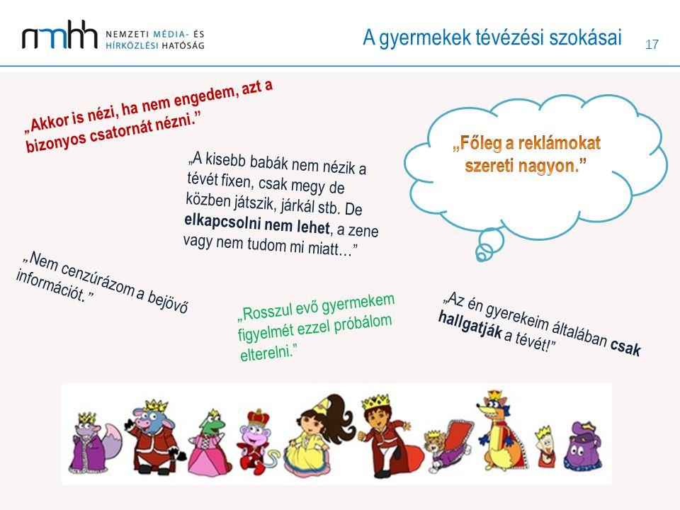 """17 """"Az én gyerekeim általában csak hallgatják a tévét! """"A kisebb babák nem nézik a tévét fixen, csak megy de közben játszik, járkál stb."""