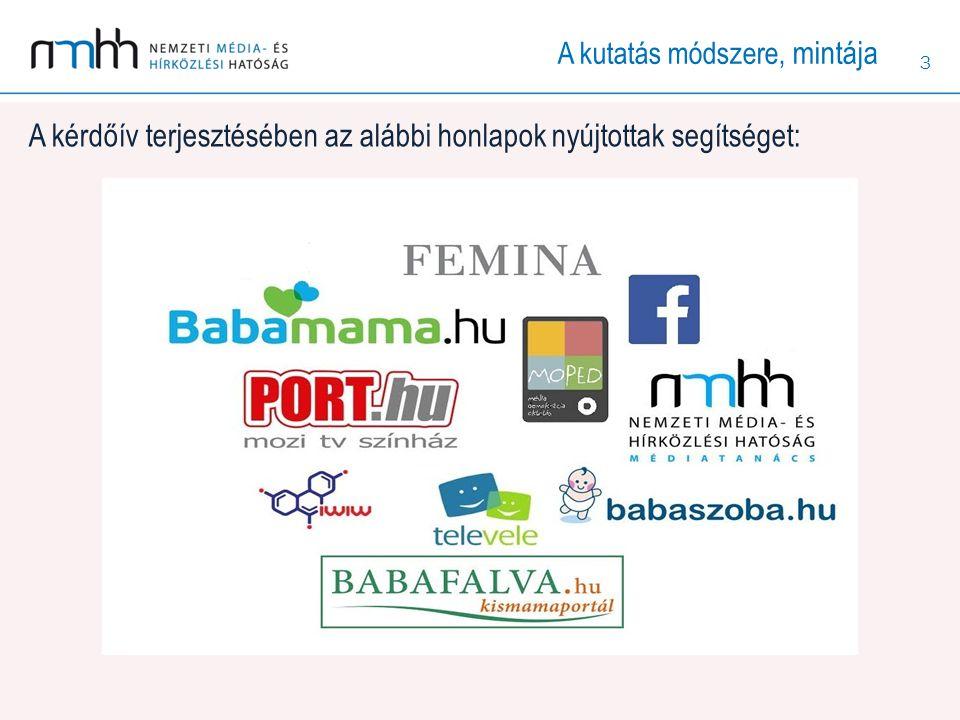3 A kérdőív terjesztésében az alábbi honlapok nyújtottak segítséget: