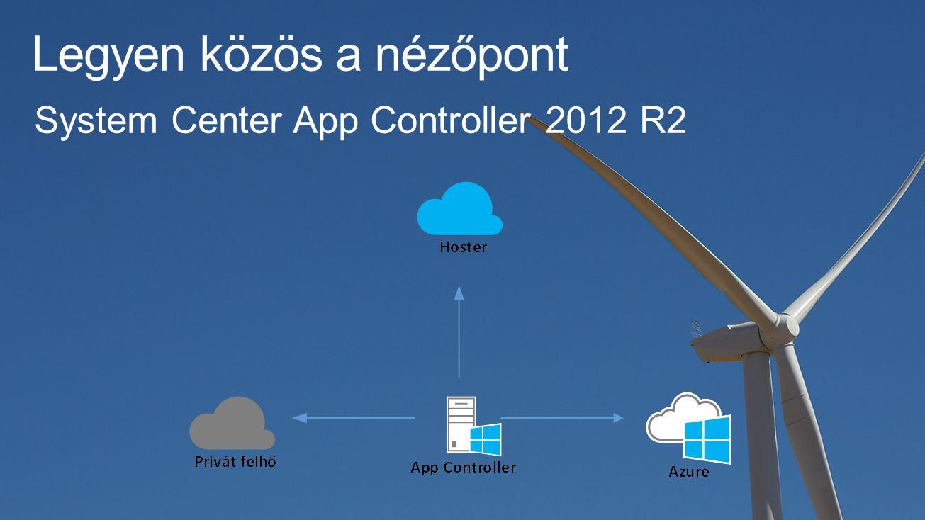 Legyen közös a nézőpont System Center App Controller 2012 R2