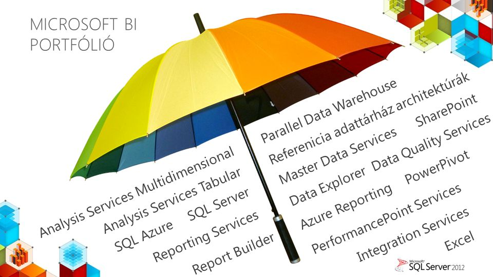 MICROSOFT BI PORTFÓLIÓ SQL Server Report Builder Integration Services SQL Azure Data Explorer Analysis Services Tabular Reporting Services PowerPivot