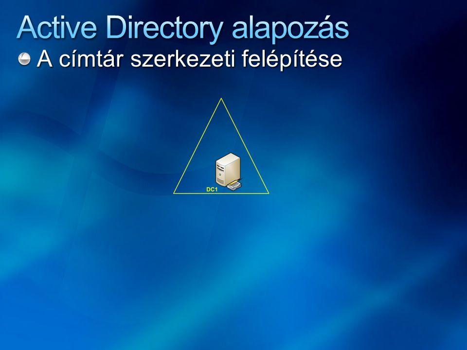 Konzisztencia az adatbázisban Az adatbázis Active Directory szervereken - DC-ken - van szétosztva Partíció szinten redundáns A konzisztencia ún.