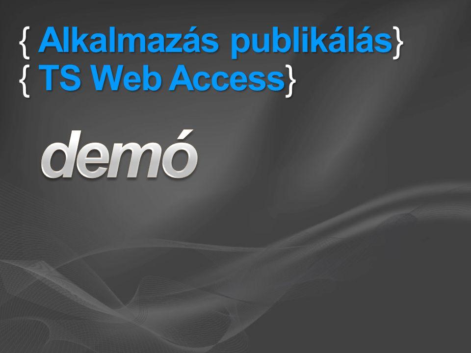 { Alkalmazás publikálás} { TS Web Access}
