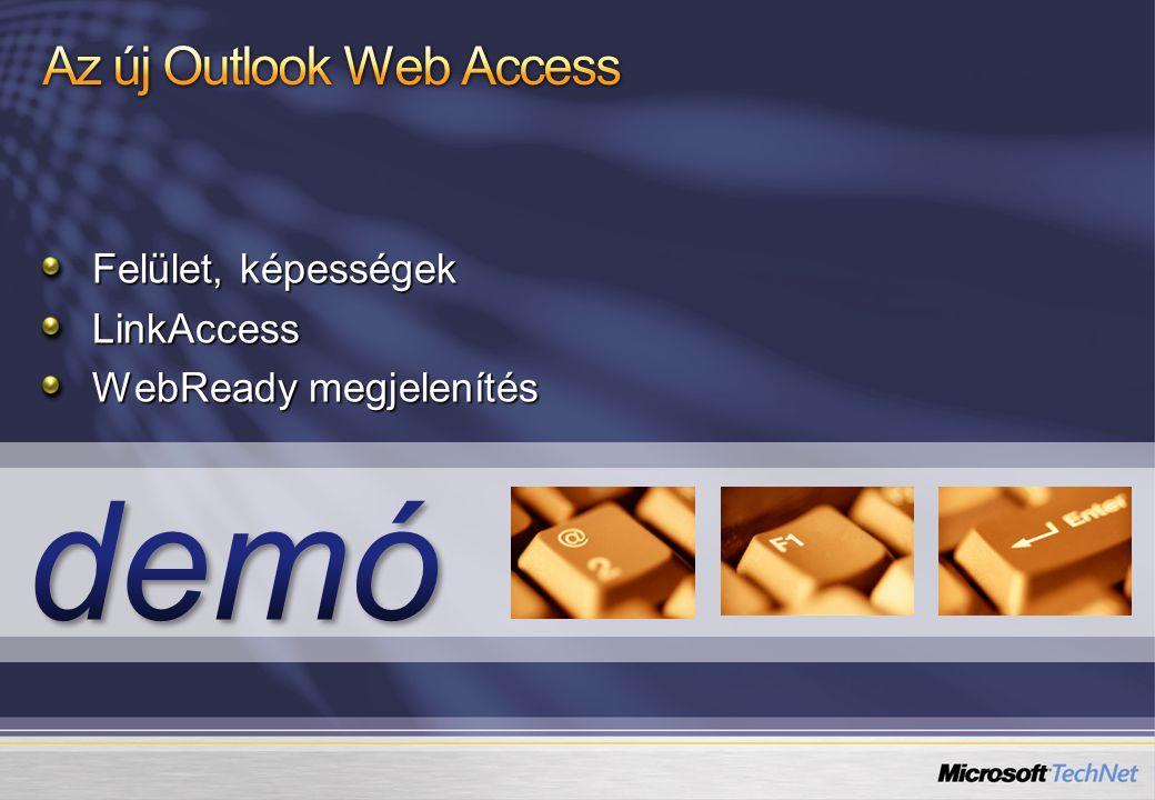 Felület, képességek LinkAccess WebReady megjelenítés