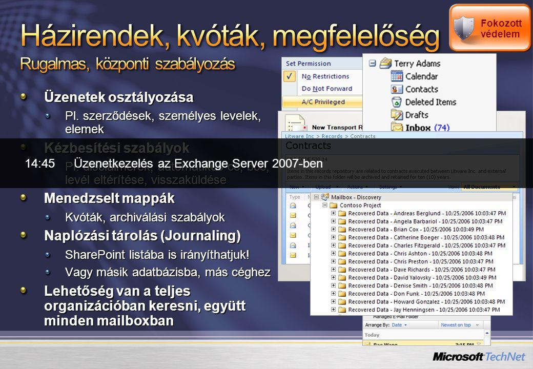 Kidobásra ítélve: CDO for Workflow Workflow Designer Web Forms Helyette: Windows Workflow Foundation ASP.NET Még van, de nem sokáig: CDO 1.2.1 CDOExExOLEDBWebDAV OWA URL commands Store Events Helyette: Web Services for Exchange Hozzáférés bárhonnan