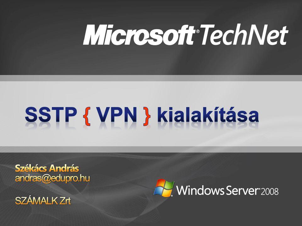 """""""Hagyományos VPN protokollok PPTP Windows NT és """"kortársai Windows 2000 Windows XP, Windows Server 2003 Windows Vista, Windows Server 2008 L2TP Windows 2000 óta"""