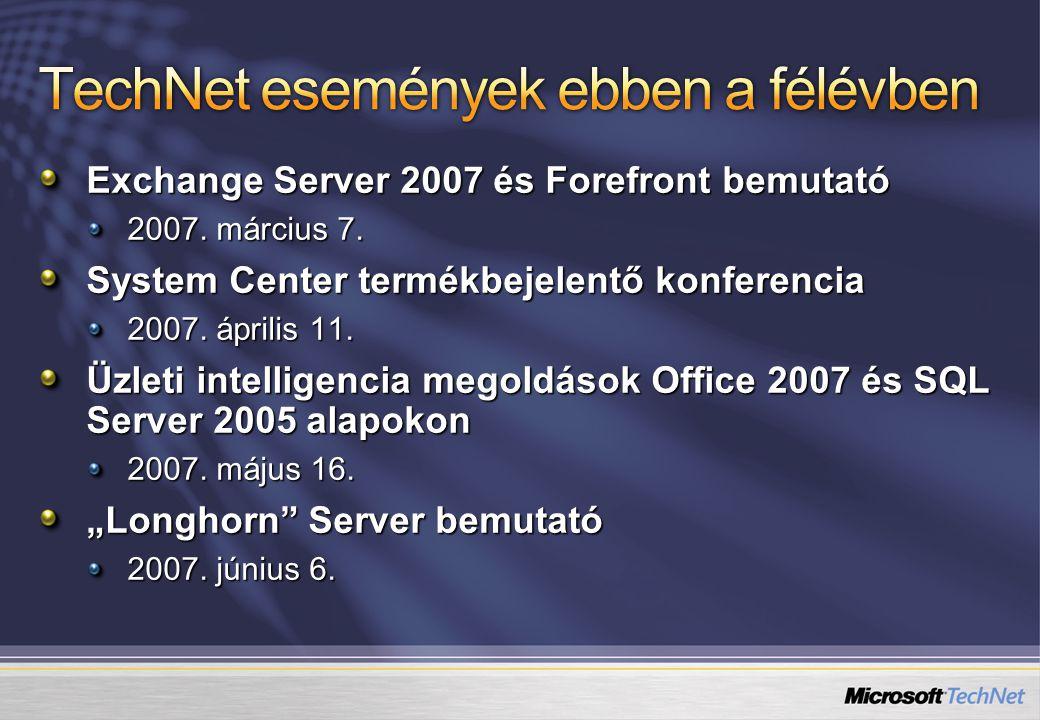 Exchange Server 2007 és Forefront bemutató 2007.március 7.