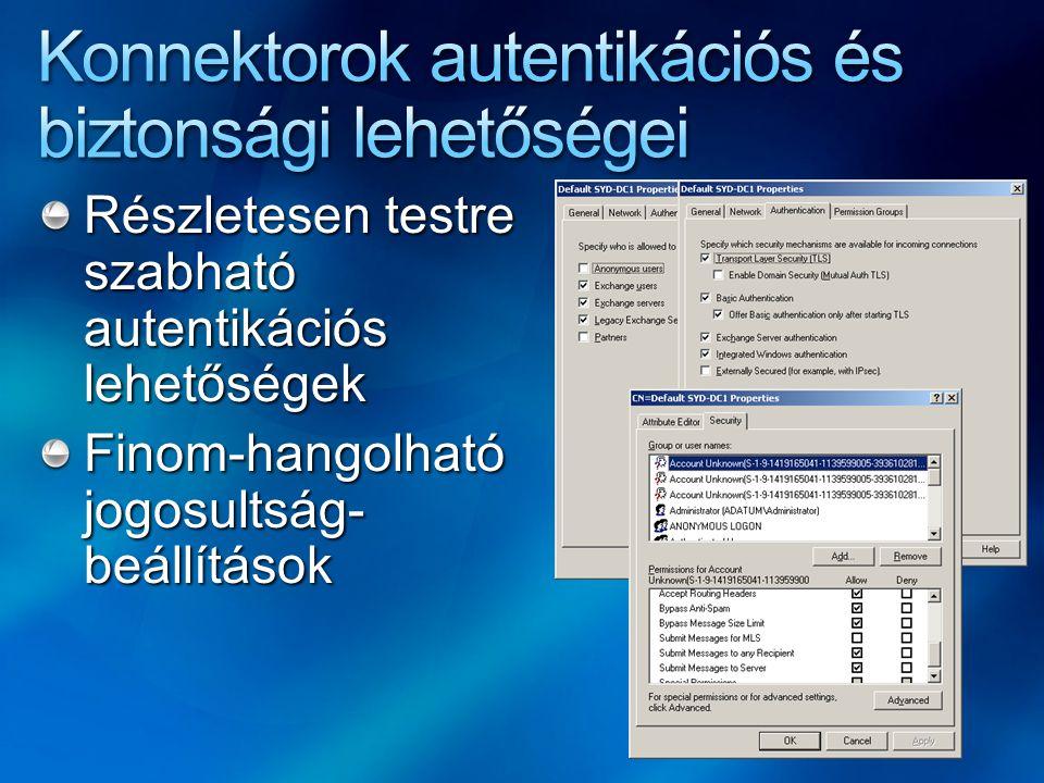 Felhasználók safe sender listájának nyilvántartása a spam szűrőn Nem automatikus replikáció: Get-Mailbox | Update-SafeList Célja a fals pozitív esetek csökkentése
