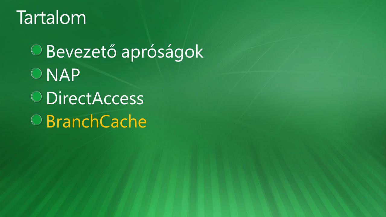 Bevezető apróságok NAP DirectAccess BranchCache