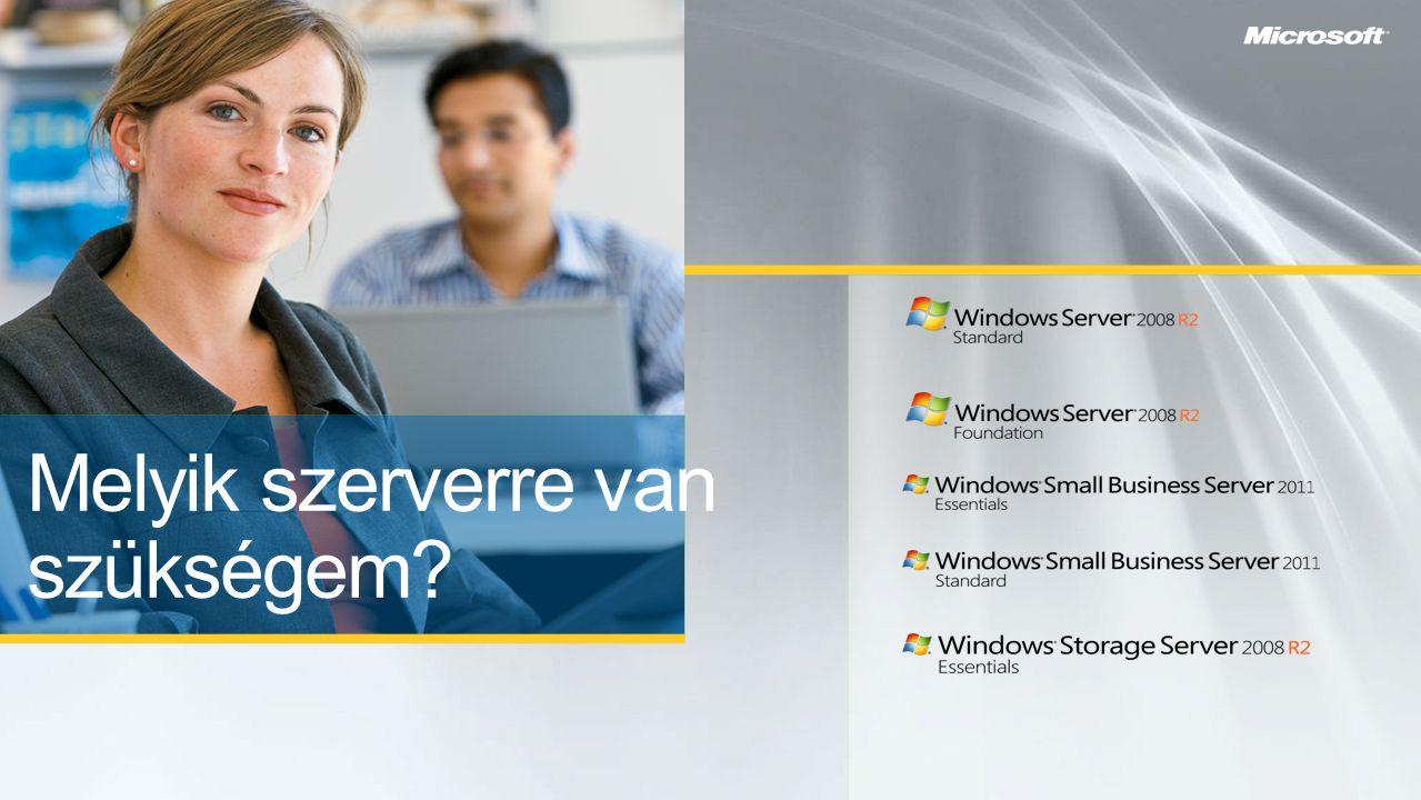 """A vállalat számítógépeinek és a hálózat folyamatos, költséghatékony működésének biztosítása - Központi felügyelet (Active Directory és csoportházirend) - Telephelyi """"cache szerverek (Server Core + BitLocker + RODC + BranchCache) - Vékonykliens infrastruktúra (VDI és Remote Desktop Services) - Szerverkonszolidáció (Hyper-V) - Tömeges és azonnali távtelepítés (Windows Deployment Services és Microsoft Deployment Toolkit) A vállalat kulcsalkalmazásainak futtatása és elérhetővé tétele bárhonnan - Alkalmazások távelérése: Remote Desktop Services - Alkalmazásplatform:.NET, IIS, Win32 API-k, SQL Server, és a számtalan Windowsra elérhető szoftvermegoldás"""